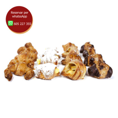 safata mini croissant dolç (35 unitats)